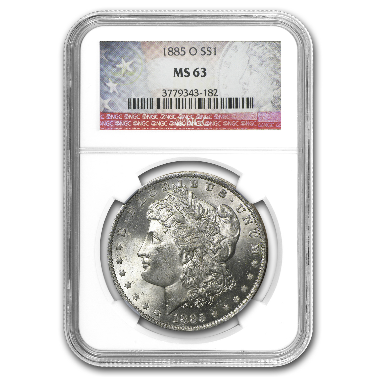 1885-O Morgan Dollar MS-63 NGC